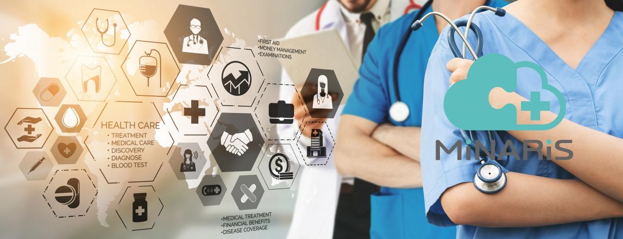 【統合型医療情報システム基盤】<br>株式会社ミナリス
